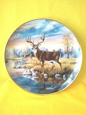 Franklin Mint JL Whiting Collector Plate Limited Edition Falls Awakening EUC