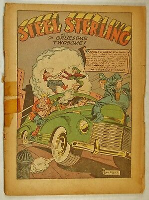 Zip Comics #41 Coverless(Nov 1943, Archie) Steel Sterling - Red Rube - Archie Ad