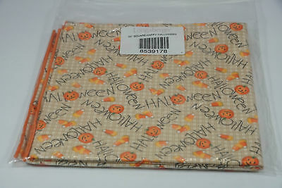 "Longaberger 36"" Fabric Square Happy Halloween Pumpkins Candy Corn NEW"