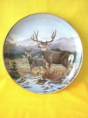 Franklin Mint JL Whiting Limited Collector Plate Guardian of the Glen EUC