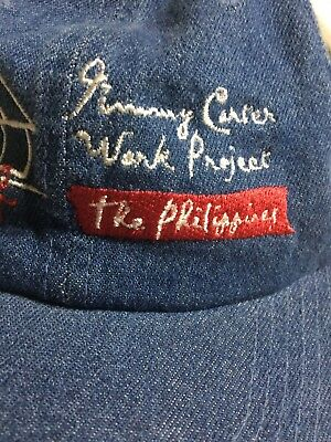 Jimmy Carter Work Project Phillipines Hat Habitat For Humanity