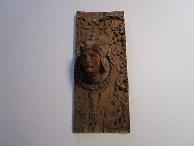 Antique 19Th Century Wood Carving Off Ship? Portrait Relieft 3D Iconic Angel