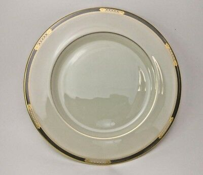 "Lenox Mckinley China Dinner Plates 10 1/2"" Presidential Collection Gold Ivory"
