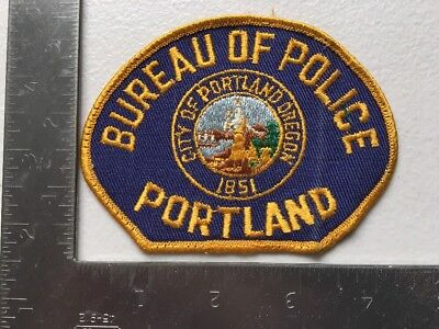 Portland Oregon Police Department Patch OR Cheesecloth Reverse Old