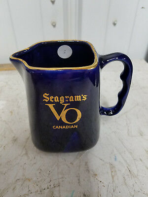 Vintage Seagrams Vo Canadian Whiskey Pitcher Collectible Man Cave