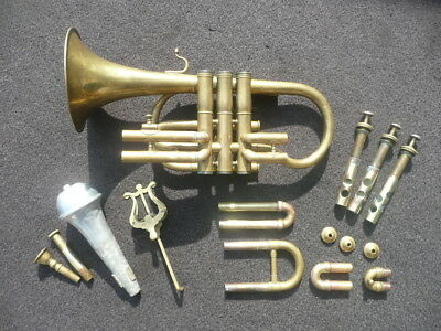 RARE OLD FRENCH CORNET by GAUTROT made in 1880! PLAYABLE CONDITION