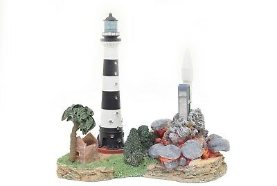 Harbour Lights Lighthouse 1996 Cape Canaveral #HL163 w/ COA - Signed
