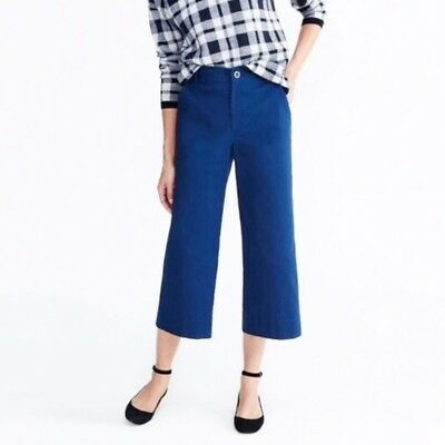 Madewell Emmett Wide-Leg Crop Pants Royal Blue Size 27 NEW Retail $88.00