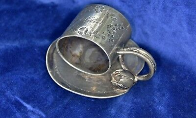 Antique Meriden B Lily Pad Quadruple Silverplate Napkin Ring Holder 168