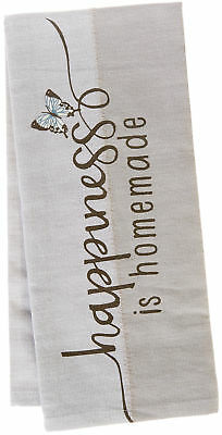 Kay Dee Designs Handmade By Lisa Happiness Tea Towel One Size Grey