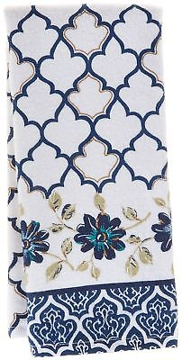Kay Dee Designs Indigold Watercolors Terry Towel One Size White/blue/gold