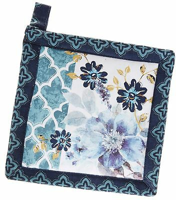 Kay Dee Designs Indigold Watercolors Pot Holder One Size Blue/gold/white