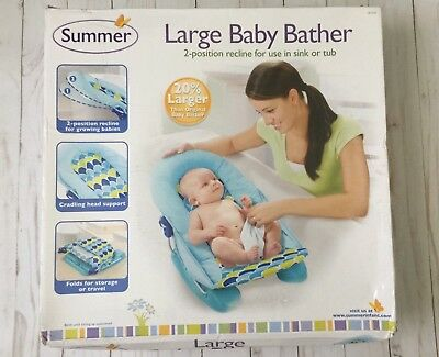 Summer Infant Large Bather, 2 position recline for use in sink or bath