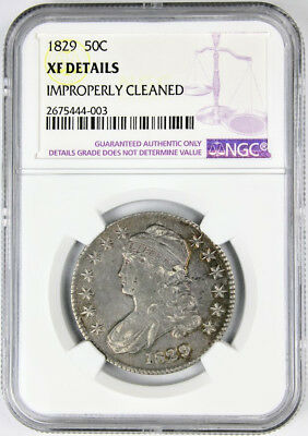 1829 Capped Bust Half Dollar NGC XF Details Silver Overton O-116 US Coin