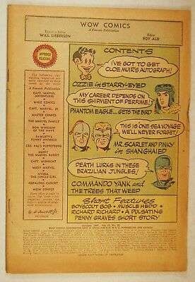 Wow Comics Vol 10 #59 Cover-less (Oct 1947) Mr. Scarlet & Pinky - Commando Yank