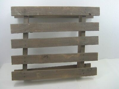Vintage Rustic Stained Wood Crate Wooden Pallet Wall Hanging Décor Piece