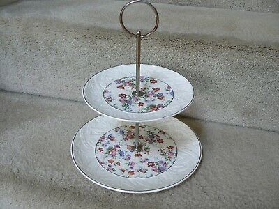 Vintage Cheery Chintz tiered server by Dorset / Erphila