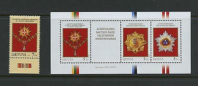 Lithuania 2008 #862-3 State awards - Baltic Countries MNH K697