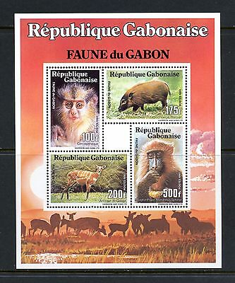 Gabon 1990 #686Cd monkey fauna sheet MNH H996