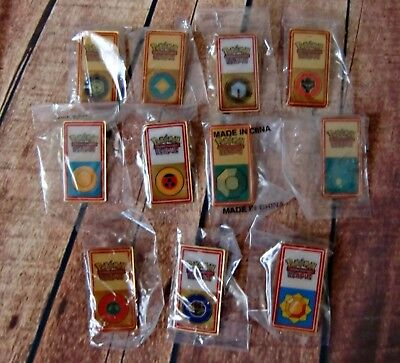 Lot (11) Pokemon TCG League Pins from Various Years 1995-96-98-99-2000/CR/GF