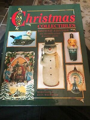 ANTIQUE CHRISTMAS PRICE GUIDE BOOK with  Ornaments Lights Jewelry China  etc