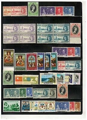 Lot of British Commonwealth Old Stamps MNH--
