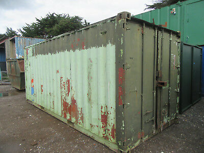 20ft x 8ft SHIPPING CONTAINER STORAGE CONTAINER STEEL CONTAINER LEAK £500 + VAT