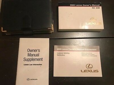 collectivedata.com 2005 LEXUS RX330 Owner Owners Owner's Manual ...