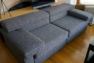 """B&B ITALIA """"ERASMO"""" AFRA AND TOBIA SCARPA rebuilt, reupholstered two seat couch"""