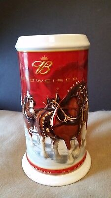 New 2004 Budweiser 25th Anniversary Holiday Beer Stein, no box