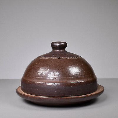 Australian Epson Bendigo Pottery, Cheese Butter Dome, Salt Glaze, Kevin Priest