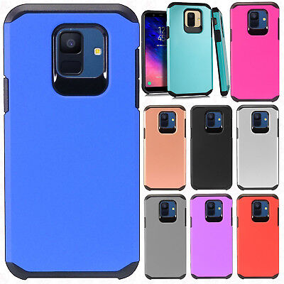 For Samsung Galaxy A6 2018 Astronoot Hybrid Rubber Silicone Case Phone Cover