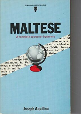 Maltese (Teach Yourself) by Aquilina, Joseph Hardback Book The Cheap Fast Free