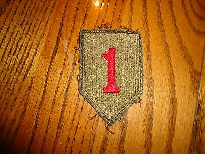 Used & Worn WW2 Vintage 1st INFANTRY DIVISION PATCH US ARMY ORIGINAL