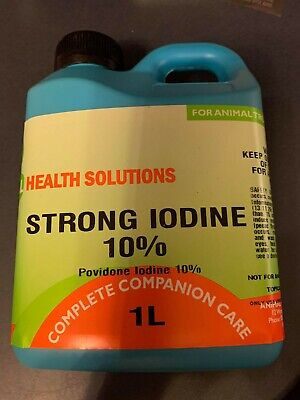 Strong Iodine 10% 500ml for Animal Use Only