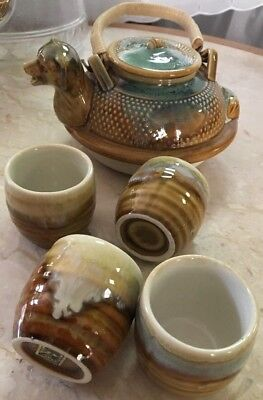Vintage Tea Set - Set of 5 ~ 4 cups and Pot - Made in Japan