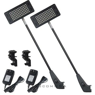 Trade Show 78 LED Light Booth Exhibit Pop Up 6W Clamp Lamp Banner Display 2pcs