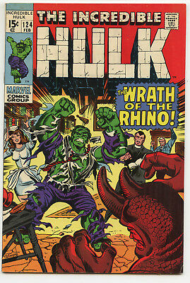 JERRY WEIST ESTATE: THE INCREDIBLE HULK #124 (Marvel 1970) FN+ NO RES
