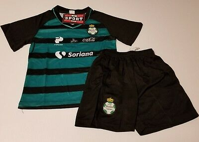d6e930c02 Club Santos Laguna Kid s soccer Jersey Futbol Liga Mx Uniform Set Youth