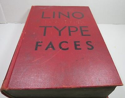 Vintage Specimen Book Lino Type Faces Typography Mergenthaler Brooklyn New York