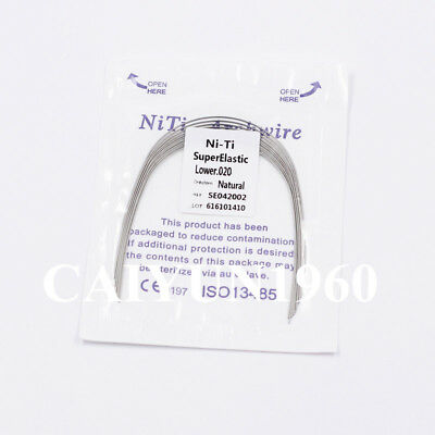 Dental Ortho Super Elastic Niti Round Arch Wire Ovoid/Natural 10 Size Choose FDA