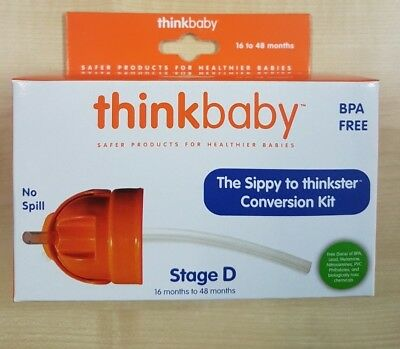ThinkBaby CONVERTS SIPPY CUP TO STRAW BOTTLE & 3 x REPLACEMENT STRAWS