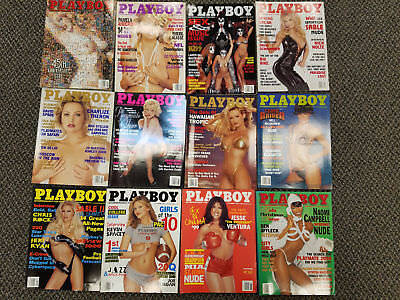 playboy magazine 1999 lot complete full entire year excellent condition!