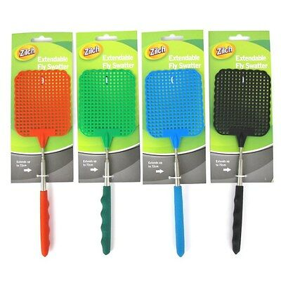 2 Pcs 72cm Extendable Handle Telescopic Insect Fly Swat Swatter Mosquito Extends