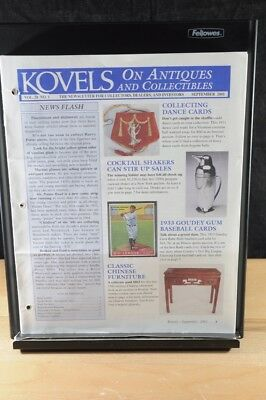 Lot of 12 Kovels On Antiques & Collectibles Magazines Sept 2001 - August 2002