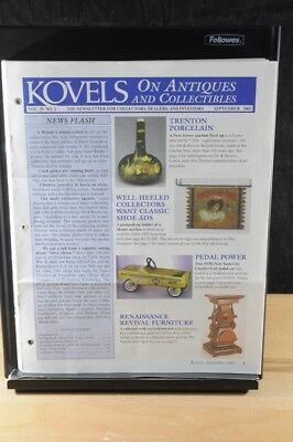 Lot of 12 Kovels On Antiques & Collectibles Magazines Sept 2002 - August 2003