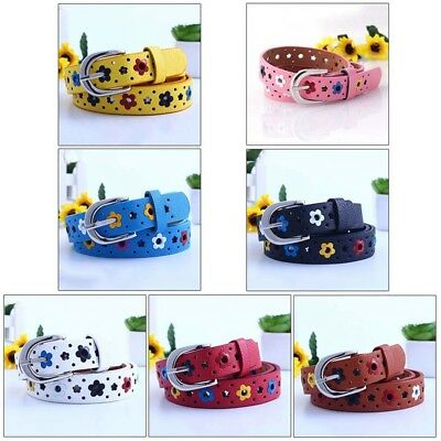 1pc Fashion Baby Kid Boy Girl PU Leather Waist Adjustable Belt Waistband Buckle