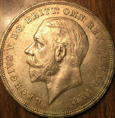 1935 UK GB GREAT BRITAIN GEO V SILVER CROWN - Best of circulated condition !