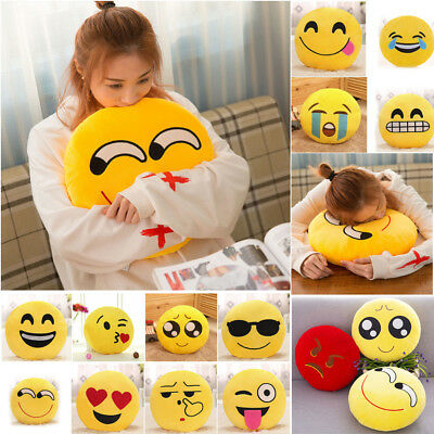 32cm Soft Smiley Emoticon Stuffed Plush Pillow Case Cover Cushion