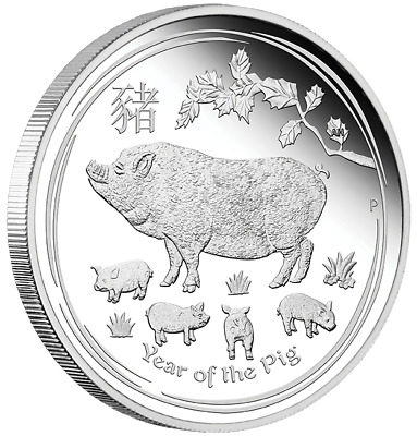 Australian Lunar Silver Coin Series Ii 2019 Year Of The Pig 1/2 Oz Silver Proof